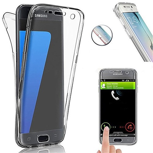 Case For Samsung Galaxy S8 Plus / S8 Shockproof / Ultra-thin Full Body Cases Solid Colored Soft TPU for S8 Plus / S8 / S7 edge