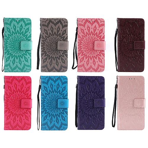 Кейс для Назначение LG V30 Q8 Бумажник для карт Кошелек со стендом Флип С узором Чехол Мандала Твердый Кожа PU для LG X Power LG V30 LG кейс для назначение lg k10 2018 g7 бумажник для карт кошелек со стендом чехол перья твердый кожа pu для lg v30 lg v20 lg q6