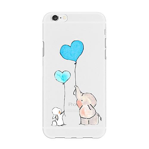 Кейс для Назначение Apple iPhone X / iPhone 8 Plus С узором Кейс на заднюю панель С сердцем / Животное / Мультипликация Мягкий ТПУ для iPhone X / iPhone 8 Pluss / iPhone 8 фото