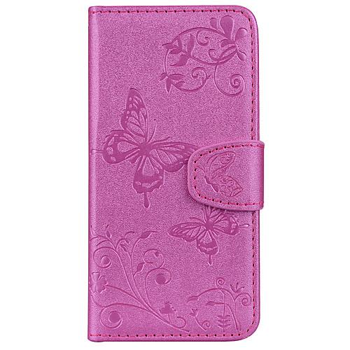 Кейс для Назначение SSamsung Galaxy S9 S9 Plus Бумажник для карт Кошелек со стендом С узором Рельефный Чехол Бабочка Твердый Кожа PU для