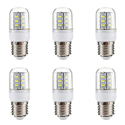BRELONG 6шт 3W 270lm E14 E26 / E27 LED лампы типа Корн 24 Светодиодные бусины SMD 5730 Тёплый белый Белый 220-240V цена