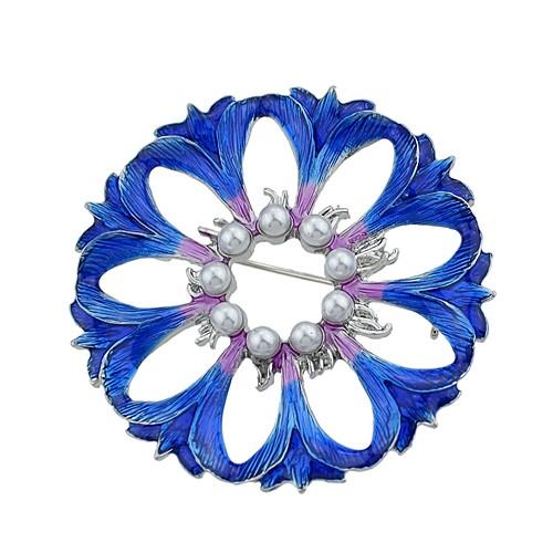 Жен. Броши Цветы Дамы Классический Мода Брошь Бижутерия Синий Назначение Повседневные Свидание фото