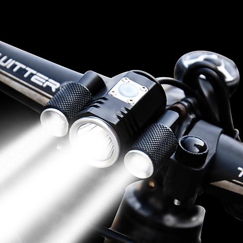 Передняя фара для велосипеда / Фары для велосипеда LED Велоспорт Водонепроницаемый, Регулируется, Большой угол Перезаряжаемая батарея 1900 lm Встроенная литий-батарея / Перезаряжаемый Белый