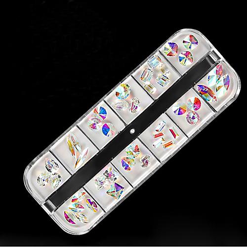 1 Украшения для ногтей Геометрия Блестящие Милый стиль Мерцание Градиент Повседневные Дизайн ногтей