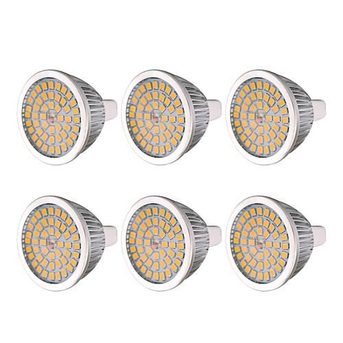 Ywxlight 6pcs mr16 7w 48led лампочка теплая белая холодная белая натуральная белая 2835smd светодиодная лампа накаливания для домашнего освещения dc 12 v фото