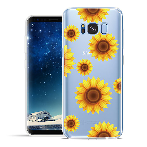 Case For Samsung Galaxy S8 Plus / S8 Pattern Back Cover Flower Soft TPU for S8 Plus / S8 / S7 edge