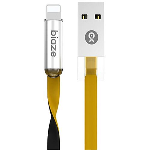 Подсветка Адаптер USB-кабеля Быстрая зарядка Высокая скорость Плоские Кабель Назначение iPhone 120 cm TPE
