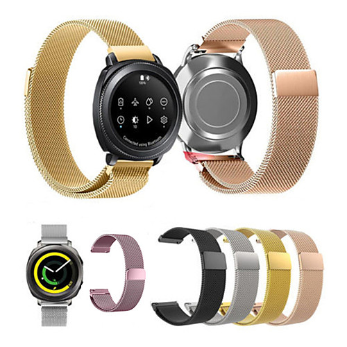 Ремешок для часов для Gear Sport Gear S2 Classic Huawei Watch 2 Samsung Galaxy Миланский ремешок Нержавеющая сталь Повязка на запястье nylon sports watch band strap adapters for samsung galaxy gear s2 r720 watch band tools for samsung galaxy gear s2 r720