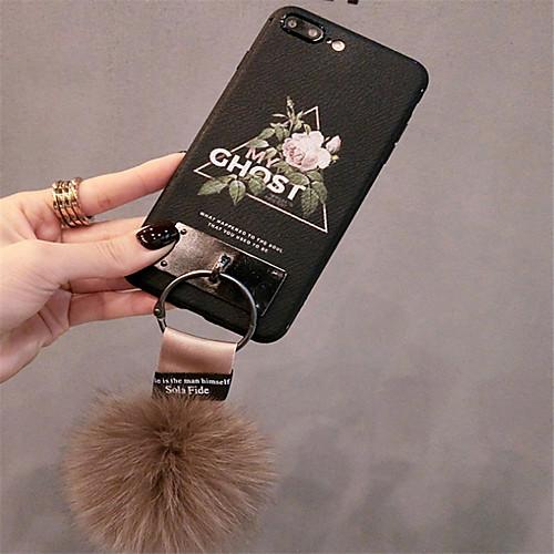 Кейс для Назначение Apple iPhone X / iPhone 7 Plus С узором Кейс на заднюю панель Цветы Мягкий Силикон для iPhone X / iPhone 8 Pluss / iPhone 8