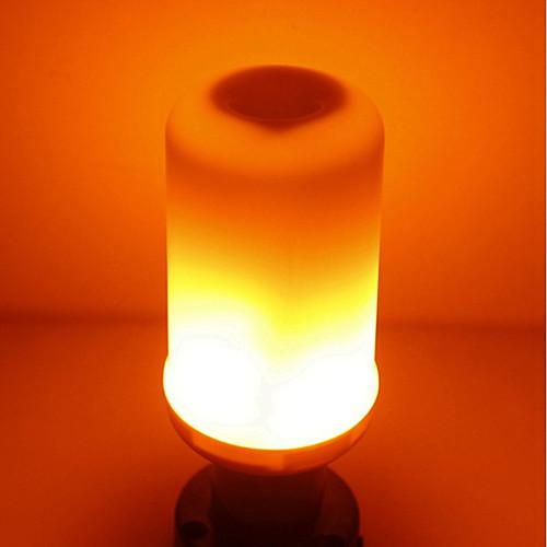 SENCART 1шт 5W 700lm E14 GU10 E26 / E27 B22 LED лампы типа Корн T 96 Светодиодные бусины SMD 2835 Пламя мерцания Тёплый белый 85-265V