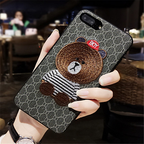 Case For Apple iPhone X / iPhone 7 Plus Pattern Back Cover Cartoon Soft Silicone for iPhone X / iPhone 8 Plus / iPhone 8