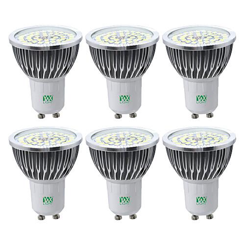 YWXLIGHT 6шт 7W 600-700lm GU10 Точечное LED освещение 48 Светодиодные бусины SMD 2835 Тёплый белый Холодный белый Естественный белый лампы освещение