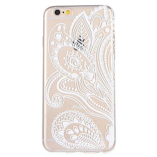 Кейс для Назначение Apple iPhone 8 iPhone 7 С узором Кейс на заднюю панель Цветы Кружева Печать Мягкий ТПУ для iPhone 8 Pluss iPhone 8