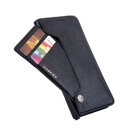 Кейс для Назначение SSamsung Galaxy S9 S9 Plus Бумажник для карт Кошелек Флип Чехол Однотонный Твердый Кожа PU для S9 Plus S9 S8 Plus S8