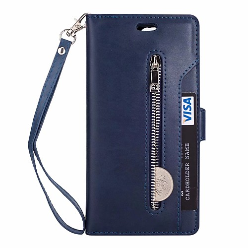 Купить со скидкой Кейс для Назначение Huawei Mate 10 lite / Mate 10 Кошелек / Бумажник для карт / со стендом Чехол Одн