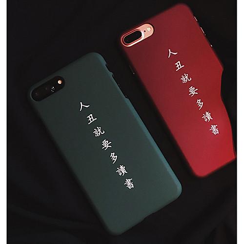 Кейс для Назначение Apple iPhone 6 / iPhone 7 Матовое / С узором Кейс на заднюю панель Слова / выражения Твердый ПК для iPhone 7 Plus /