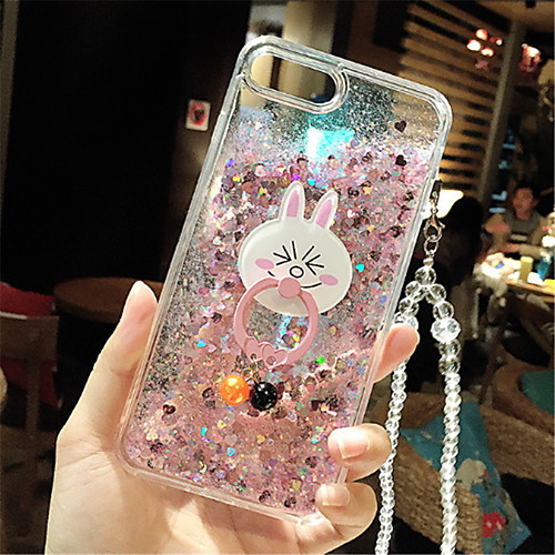 Case For Apple iPhone 7 Plus / iPhone 6 Plus Flowing Liquid / Pattern Back Cover Glitter Shine Soft Silicone for iPhone 8 Plus / iPhone 8 / iPhone 7 Plus