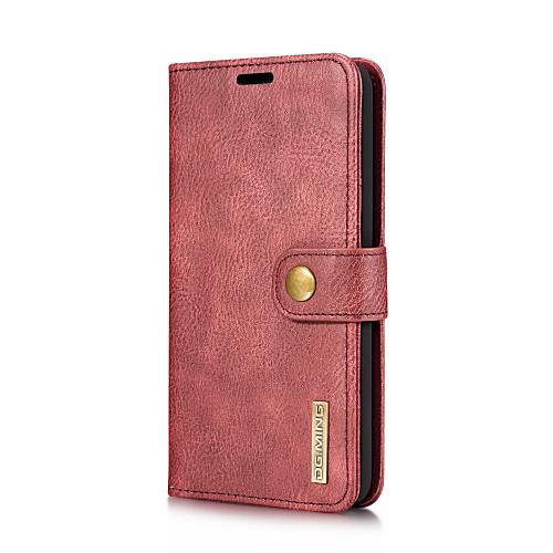 Кейс для Назначение LG V30 V20 Бумажник для карт со стендом Флип Чехол Сплошной цвет Твердый Настоящая кожа для LG V30 LG V20 кейс для назначение lg k10 2018 g7 бумажник для карт кошелек со стендом чехол дерево твердый кожа pu для lg v30 lg v20 lg q6