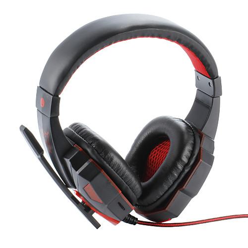 Plextone PC780 Над ухом Головная повязка Проводное Наушники пластик Игры наушник Шумоизоляция С микрофоном С регулятором громкости