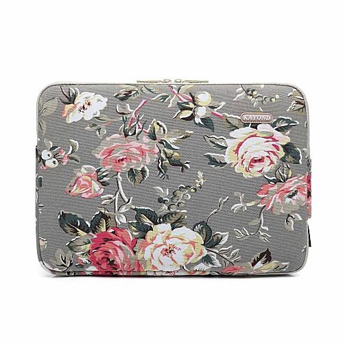 Рукава Цветы холст для Новый MacBook Pro 15 / MacBook Pro, 15 дюймов / MacBook Air, 13 дюймов 12 дюймов