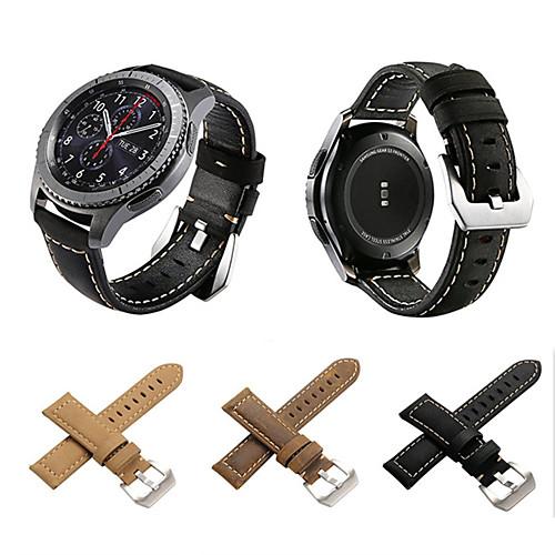 Ремешок для часов для Gear S3 Frontier / Gear S3 Classic / Gear S3 Classic LTE Samsung Galaxy Классическая застежка Натуральная кожа Повязка на запястье фото