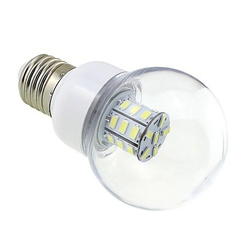 4 Вт. 3000-3500 lm E26/E27 Круглые LED лампы G60 27 светодиоды SMD 5730 Тёплый белый DC 24 В AC 24V AC 12V DC 12V