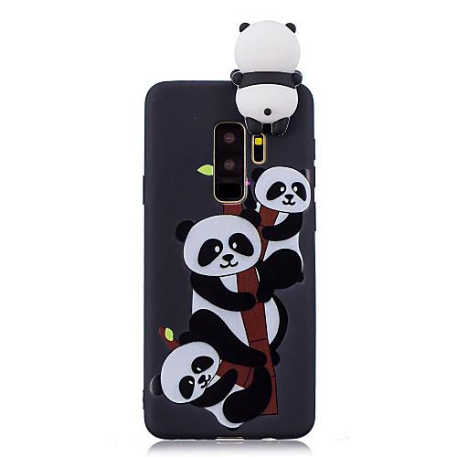 Кейс для Назначение SSamsung Galaxy S9 Plus / S9 С узором Кейс на заднюю панель Панда Мягкий ТПУ для S9 / S9 Plus / S8 Plus фото