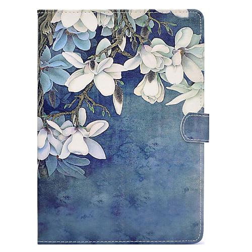 Кейс для Назначение Apple iPad mini 4 / iPad Mini 3/2/1 Бумажник для карт / Защита от удара / со стендом Чехол Цветы Твердый Кожа PU для iPad Mini 3/2/1 / iPad Mini 4