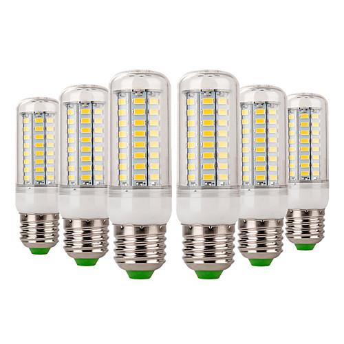 YWXLIGHT 6шт 7W 600-700lm E14 E26 / E27 LED лампы типа Корн 72 Светодиодные бусины SMD 5730 Декоративная Тёплый белый Холодный белый цена