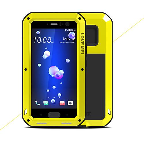 Кейс для Назначение HTC U11 Защита от удара Водонепроницаемый Чехол Сплошной цвет Твердый Металл для HTC U11 свеча q20pr u11 применяемость
