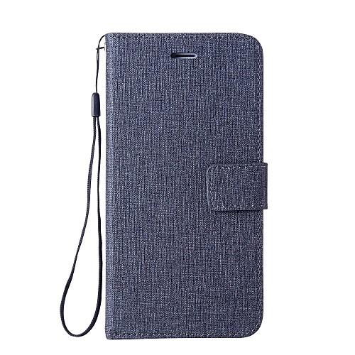 Кейс для Назначение Huawei Y5 II / Honor 5 Бумажник для карт Кошелек со стендом Флип Чехол Сплошной цвет Твердый Кожа PU для Huawei Y6 II смартфоны huawei y5 2017 grey
