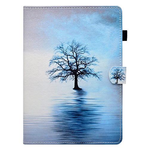 Кейс для Назначение Apple iPad 10.5 iPad Pro 9.7 Бумажник для карт со стендом Флип С узором Авто Режим сна / Пробуждение Чехол дерево позиционеры для сна candide позиционер с подголовником воздухопроницаемая панда air