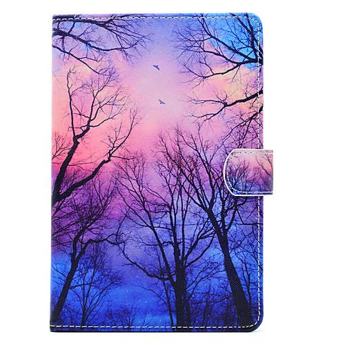 Кейс для Назначение Apple iPad mini 4 / iPad Mini 3/2/1 Бумажник для карт / Защита от удара / со стендом Чехол дерево Твердый Кожа PU для iPad Mini 3/2/1 / iPad Mini 4