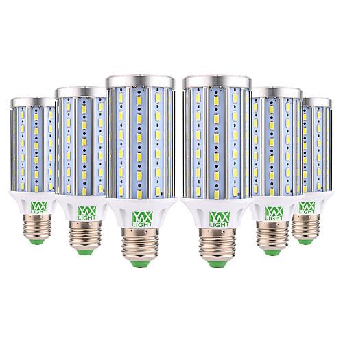 YWXLIGHT 6шт 25W 2000-2500lm E26 / E27 LED лампы типа Корн T 72 Светодиодные бусины SMD 5730 Декоративная Тёплый белый Холодный белый цена