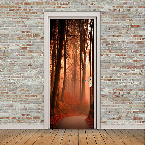 Пейзаж Цветочные мотивы/ботанический Наклейки Простые наклейки 3D наклейки Декоративные наклейки на стены Дверные наклейки, Винил