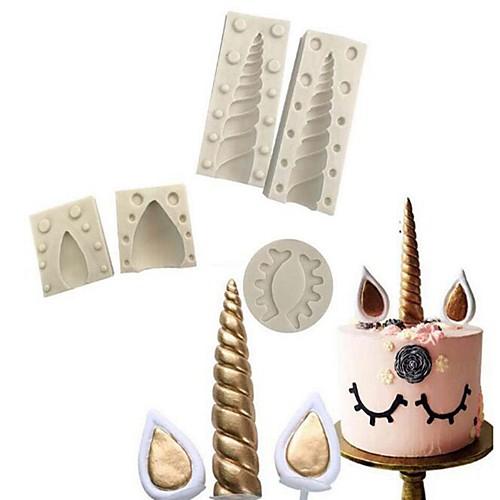 Инструменты для выпечки Силикон 3D / Новогодняя тематика / Своими руками Для торта Формы для пирожных 5 шт.