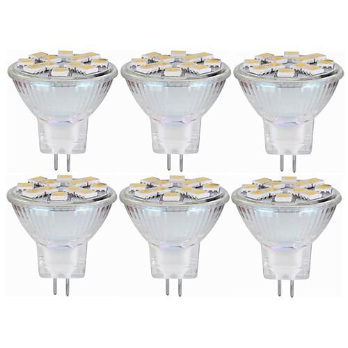 SENCART 6шт 5W 160lm MR11 Двухштырьковые LED лампы MR11 12 Светодиодные бусины SMD 5060 Декоративная Тёплый белый / Белый 12-24V / RoHs цена