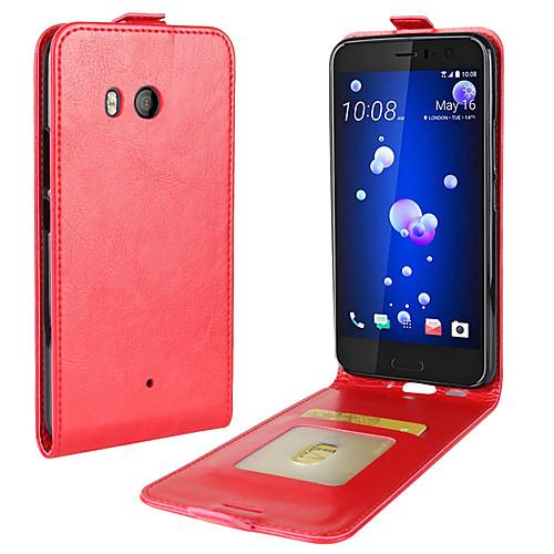 Кейс для Назначение HTC U11 Life U11 Бумажник для карт Флип Чехол Сплошной цвет Мягкий Кожа PU для HTC U11 HTC U11 Life HTC U11 plus смартфон htc u11 64gb красный