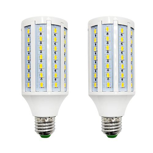 BRELONG 2pcs 18W 1200lm E14 E26 / E27 B22 LED лампы типа Корн 84 Светодиодные бусины SMD 5730 Тёплый белый Белый 220-240V цена