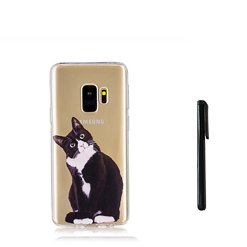 Кейс для Назначение SSamsung Galaxy S9 S9 Plus Полупрозрачный Кейс на заднюю панель Кот Животное Мягкий ТПУ для S9 Plus S9 S8 Plus S8 S7 стилусы