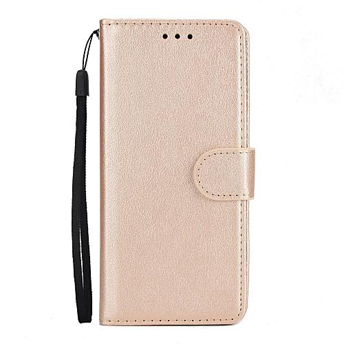 Кейс для Назначение SSamsung Galaxy S9 S9 Plus Бумажник для карт Кошелек со стендом Флип Чехол Сплошной цвет Твердый Кожа PU для S9 Plus