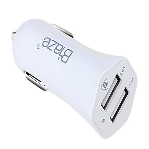 Автомобильное зарядное устройство Зарядное устройство USB USB Несколько разъемов / КК 2.0 2 USB порта 1 A DC 12V-24V 2600mah power bank usb блок батарей 2 0 порты usb литий полимерный аккумулятор внешний аккумулятор для смартфонов светло зеленый
