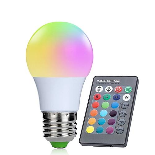 1шт 3W 250lm E26 / E27 Умная LED лампа 10 Светодиодные бусины SMD 5050 Инфракрасный датчик Диммируемая Декоративная На пульте управления