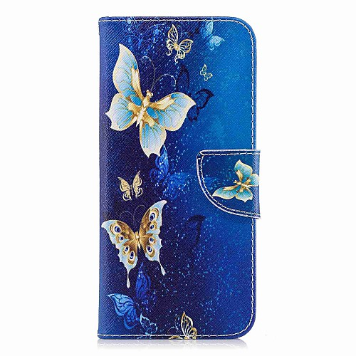 Кейс для Назначение SSamsung Galaxy S9 Plus  S9 Кошелек  Бумажник для карт  со стендом Чехол Бабочка Твердый Кожа PU для S9  S9 Plus  S8 Plus
