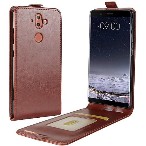 Кейс для Назначение Nokia Nokia 9 Nokia 6 2018 Бумажник для карт Флип Чехол Однотонный Твердый Кожа PU для Nokia 9 Nokia 8 Nokia 7 Plus купить nokia 5228 в минске