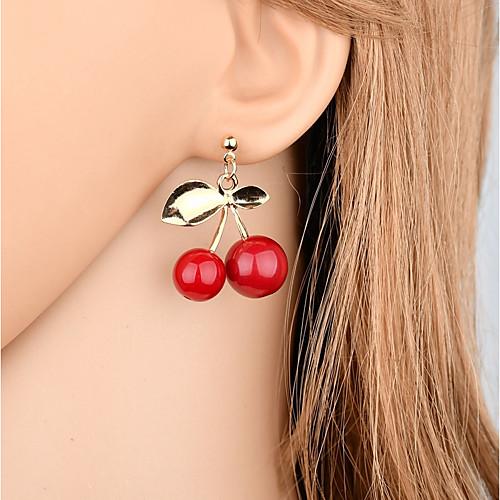 Жен. Серьги-слезки - В форме листа Милая, Мода Красный Назначение Подарок / Для вечеринок бижутерия в подарок