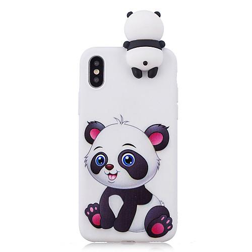 Кейс для Назначение Apple iPhone X iPhone 8 Plus С узором Кейс на заднюю панель Панда Мягкий ТПУ для iPhone X iPhone 8 Pluss iPhone 8 детская футболка классическая унисекс printio король панда