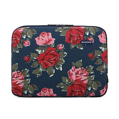 Рукава цветок холст сумка для ноутбука для MacBook Air 11,6 13,3 / MacBook12 / MacBook Pro Retina 13,3 15,4 / новый MacBook 15,4 с сенсорной панелью фото