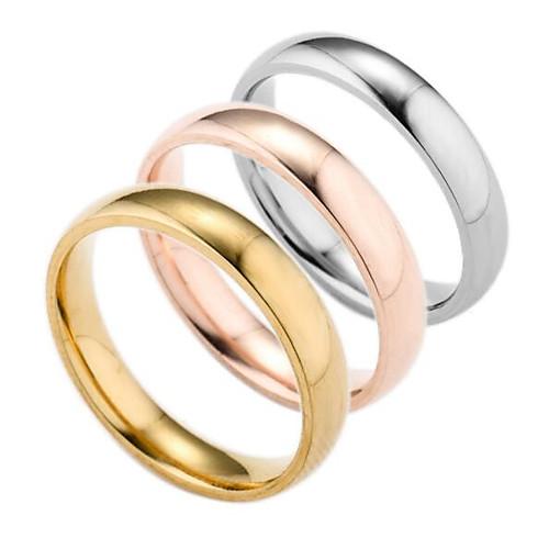 Муж. Серебрянное покрытие / Позолота Кольцо - Геометрической формы Мода Золотой / Серебряный / Розовый Кольцо Назначение Повседневные