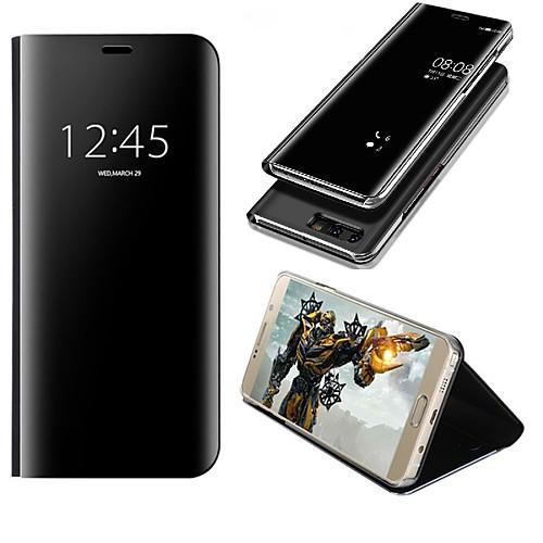 Кейс для Назначение Huawei P10 Plus / P10 Lite со стендом / Зеркальная поверхность / Флип Чехол Однотонный Твердый Кожа PU для P10 Plus / P10 Lite / P10 фото